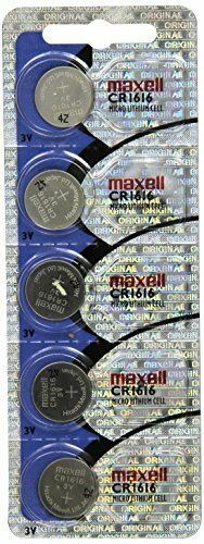 CR1616/5 MAXELL Lithium 3v Coin Battery (pack of 5)
