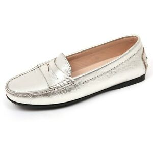 C9066-mocassino-donna-TOD-039-S-scarpa-argento-loafer-shoe-woman