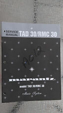 Marantz tad 30 rmc 30 Service Manual Original Repair book stereo cassette radio
