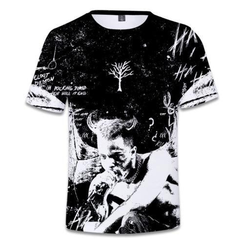 Rapper XXXTentacion Unisex 3D Print Breathable T-shirt Lovers Hip Hop Tee Top UK