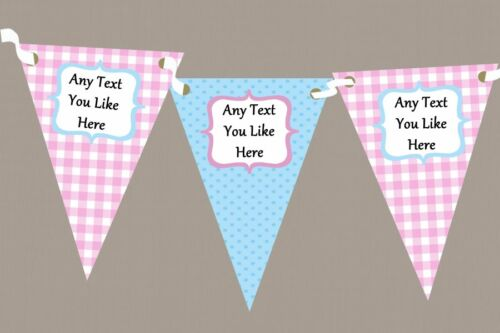 Blue /& Pink Gingham And Polka Dot Welcome Home New Baby Bunting