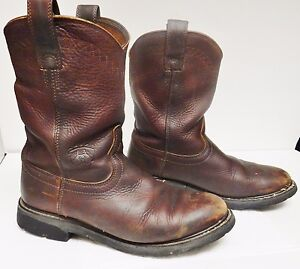 ARIAT ATS Motorcycle Boots Biker Riding Leather Engineer Distress