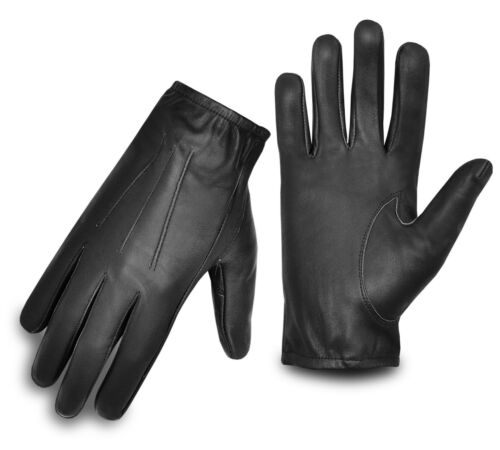 MEN/'S DRIVING GLOVES SLIM FIT RETRO STYLE CLASSIC CHAUFFEUR LEATHER BLACK S-XL