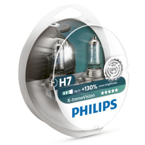 Philips H7 Xtreme Vision 130/% More Light 12V Headlight Bulbs Pair 12972XV+S2