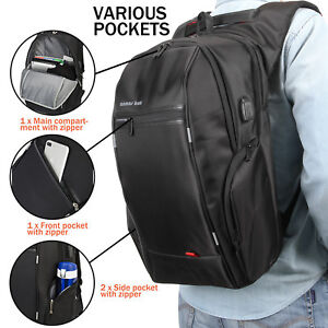 Brand-ANMAS-BOX-Waterproof-Smart-Backpack-amp-USB-Port-Bag-for-15-6-034-17-3-039-039-Laptop