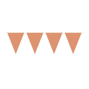 ROSE-GOLD-GLOSSY-FLAG-PARTY-BUNTING-15-FLAGS-10M-PARTY-DECORATION