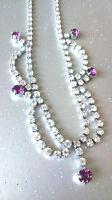 VINTAGE JEWELLERY - GORGEOUS Deco Sparkling Crystal Rhinestone 'SWAG' Necklace