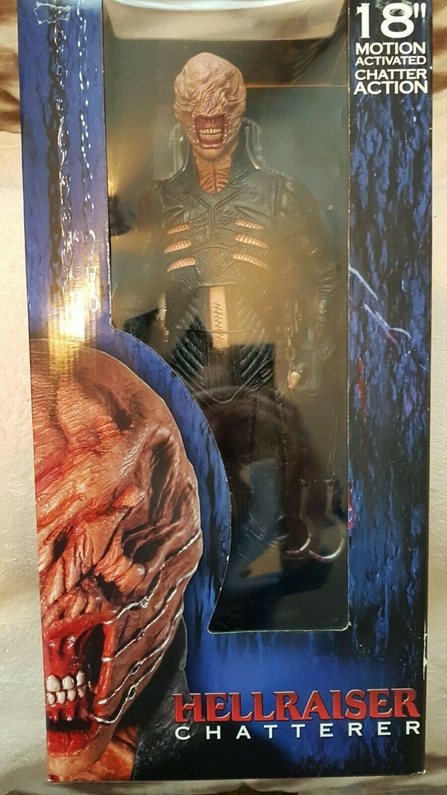 From the movie ,hellraiser rare 18  figure motion Activated (Horror ) chatterer
