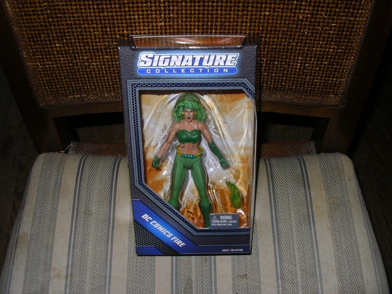 DC UNIVERSO Fire Signature Series Matty esclusivo Nuovo di zecca con scatola
