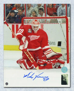 Mike-Vernon-Detroit-Red-Wings-Autographed-Stanley-Cup-Finals-Action-8x10-Photo