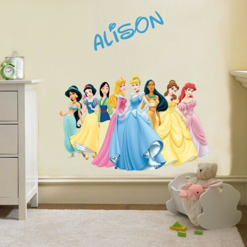 PERSONALIZED DISNEY PRINCESS GROUP Decal Removable WALL STICKER FREE SHIPPING
