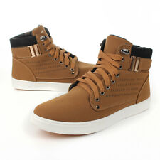 Fashion Men?s Oxfords Casual High Top Shoes Leather Shoes Canvas Sneakers New