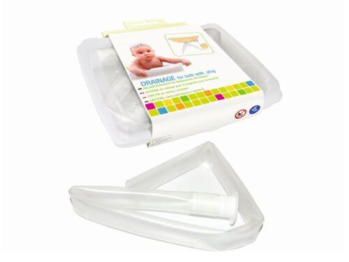 Ablaufschlauch für Babywannen mit Stöpsel
