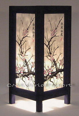 ASIAN DECOR HOME ART TABLE BEDSIDE FLOOR LAMP: *JAPANESE SAKURA TREE LAMP*