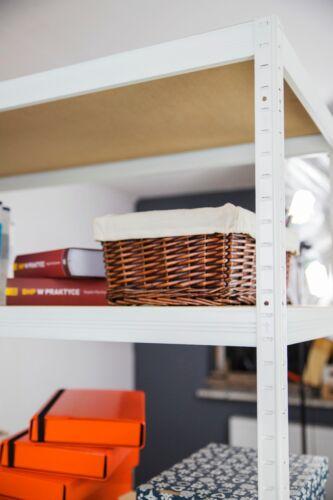 Atelier pour charges lourdes étagère étagère Blanc jusqu/'à 400 kg par Sol HWW 213 cm Étagère Métallique