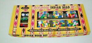 Vintage-RARE-Toy-Indian-Bead-Set-Necklaces-amp-Bracelets-Hassenfeld-Bros-Hasbro