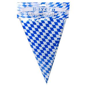 1-Kunststoff-Wimpelkette-Nr-12166-Bayrisch-Raute-10-m-15-Wimpel-Oktoberfest