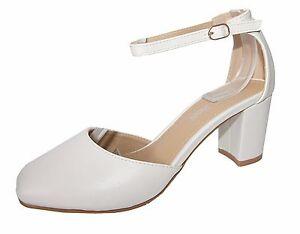Zapatos de Novia Tacón Cuero Óptica en Crema Blanco Con Tiras Chc C18