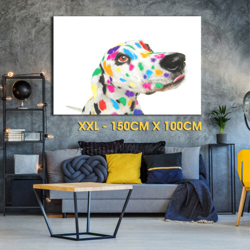 A002 Abstract Dalmatian Dog  Funky Animal Canvas Wall Art Large Picture Print