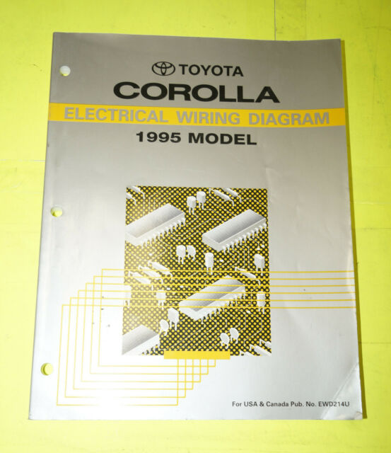 1995 Toyota Corolla Oem Evtm Electrical Wiring Diagram