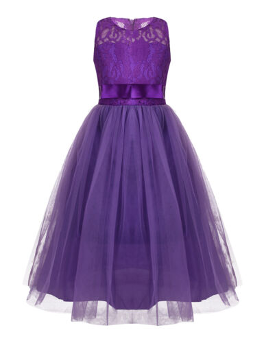 Flower Girls Kid Princess Bridesmaid Girl Dresses Wedding Formal Party Prom Gown