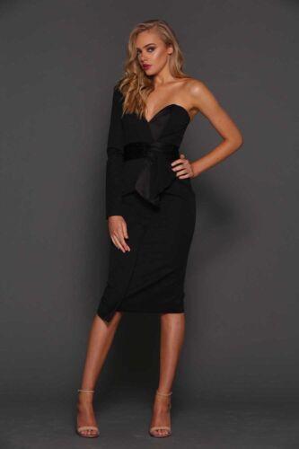 Zeitoune Une Noire Robe Elle Midi Corset Cocktail Robe ᄄᆭpaule Soirᄄᆭe UqMVpzS