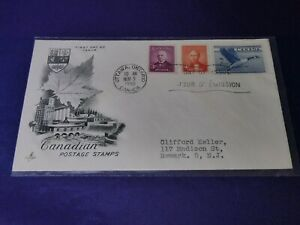 "#318-20 ""Abbott; Mackenzie; Canada Goose"" FDC Ottawa, Ontario 1952 (ArtCraft)"