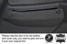 Negro Stich 2x Frontal Puerta Gris interruptor Trim Skin cubre encaja Mitsubishi L200 K74