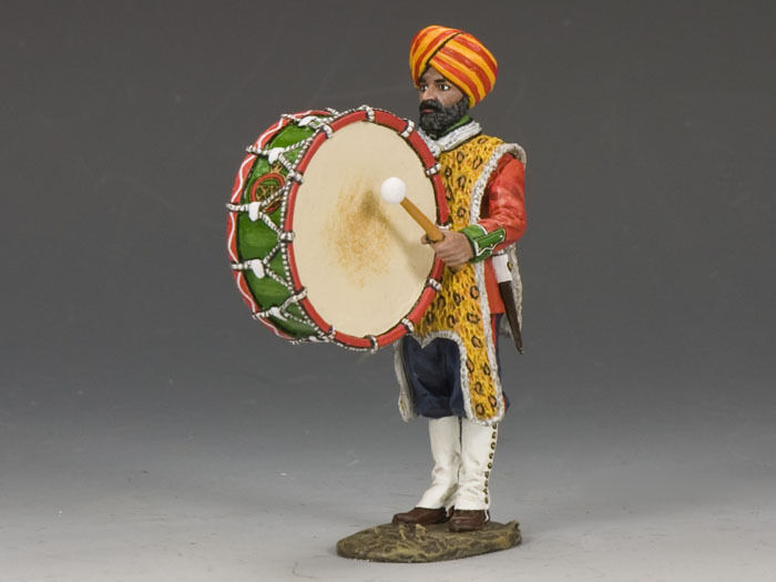 KING AND COUNTRY Ludhianna Sikhs Big Drummer SOE017 SOE17 Painted Diecast Metal