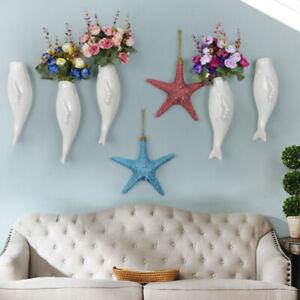 Fish-Ceramic-Wall-Mounted-Vase-Decorative-Flower-Planter-Hanging-Vase-Holder