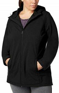 Ideology-Long-Hooded-Rain-Jacket-Noir-Size-Small-NWT