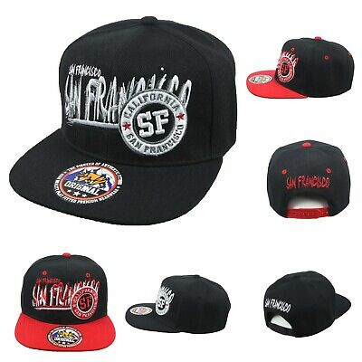 San Fransisco Basecap Mode Hüte Flach Bill SF Caps Hip Hop 7vTCO