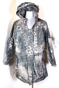 Details about Adidas Stella McCartney Hooded Hoody Animal Print Snake Rain Run Jacket size 32