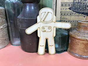 ASTRONAUT SHAPES WOODEN Multiple Sizes Wood Shape Space Man Suit 2.5cm to 25cm