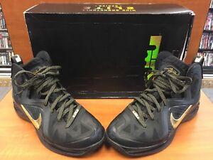 new products eaba2 a30a9 Image is loading Nike-Lebron-9-IX-P-S-Elite-Away-Black-