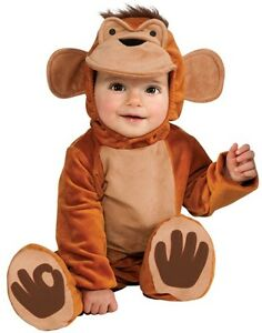 Baby-Boys-or-Girls-Funky-Monkey-Zoo-Animal-Halloween-Fancy-Dress-Costume-Outfit