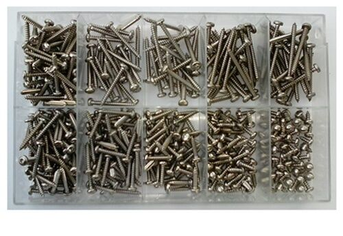Blechschrauben-Sortiment TORX DIN 7981 Linsenkopf 3,9 mm Edelstahl A2 280 Teile