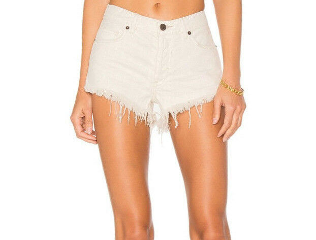 Free People OB562992 Soft And Relaxed Cut Off Shorts In Worn White