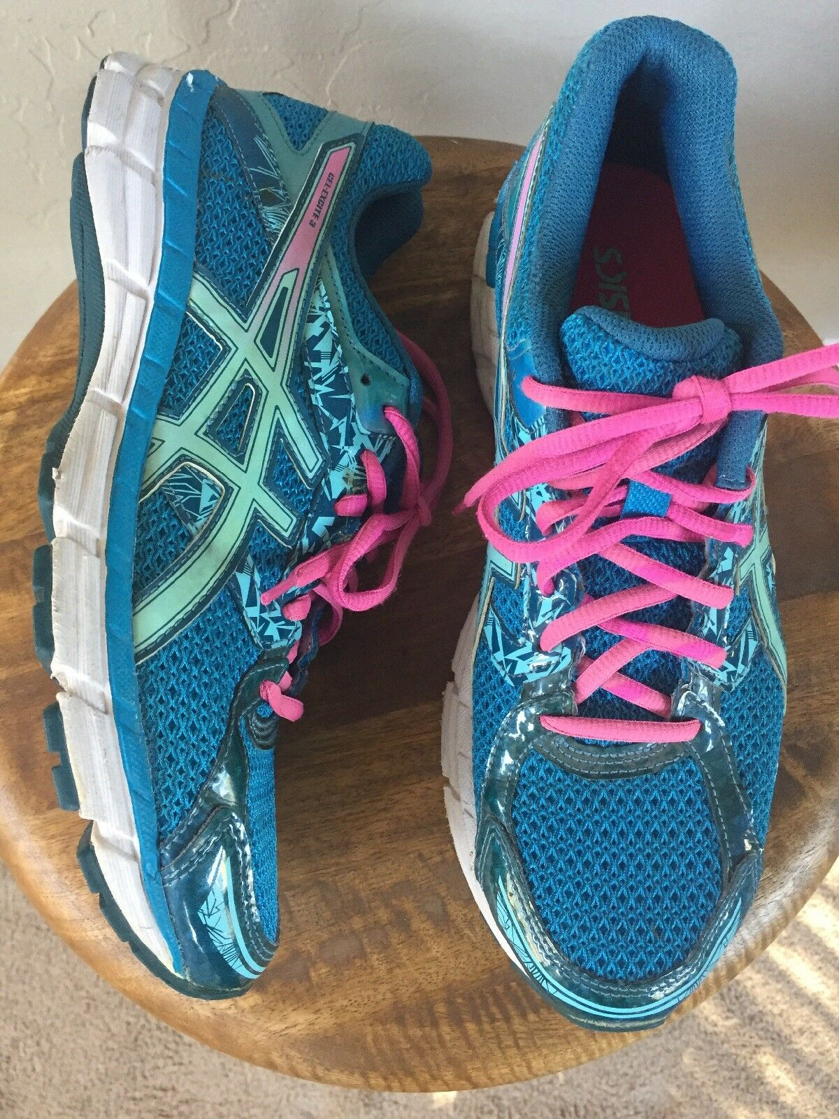 Asics Gel-Excite 3 Round Toe Synthetic Running Shoe- Size 9- Turquoise/Aqua