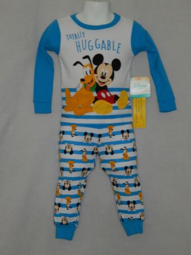NEW Mickey Mouse Disney Figure Pajamas Pluto Outfit Baby Boys 12 18 24 Months