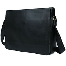 Genuine Real Leather Grade Mens Messenger Shoulder Bag 13.3 inch Laptop