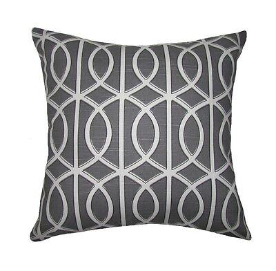 Gray Gate Throw Pillow Dwell Studio Bella Porte Charcoal Decorative Throw Pillow