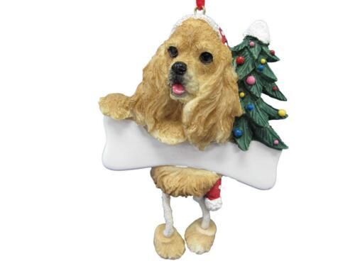 COCKER SPANIEL TAN--Dangling Legs Dog Christmas Ornament by E/&S Pets