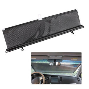 Black Car Retractable Windshield Visor Sun Shade Auto Block Cover 58 ... eebb13f9826