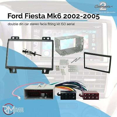 Ford Fiesta Mk6 02-05 double din car stereo facia fitting kit ISO aerial cage
