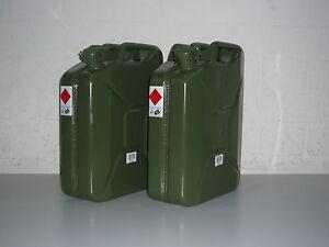 3 Stück 3 x 20 Liter Kanister Benzinkanister Metallkanister 20 Liter