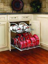 Genial Item 4 Pull Out Cabinet Rack Cookware Organizer Pots Pans Lids Holder  Kitchen Storage  Pull Out Cabinet Rack Cookware Organizer Pots Pans Lids  Holder ...