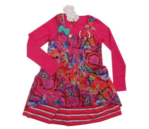 104,110,116 Pezzo D/'Oro vestiti abito manica lunga zweilagig ROSA COTONE MIS