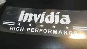 Details about invidia Exhaust Stickers Decals 8cm x 25cm