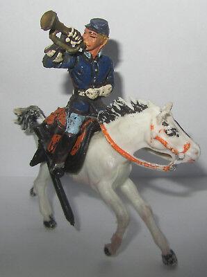 Audace Soldatino Xiloplasto Cromoplasto Nordista Con Tromba Cavallo Sella Lustro
